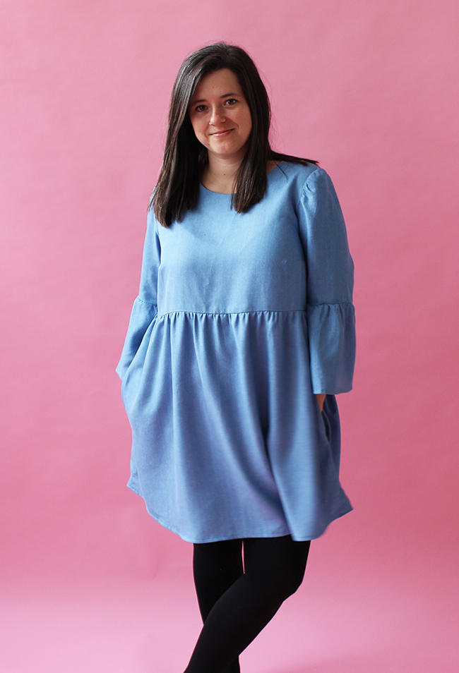 Team Buttons Indigo Smock Top and Dress Sewing Pattern - Tilly and the Buttons
