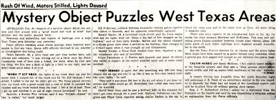 Mystery Object Puzzles West Texas - Alamogordo Daily News 11-4-1957