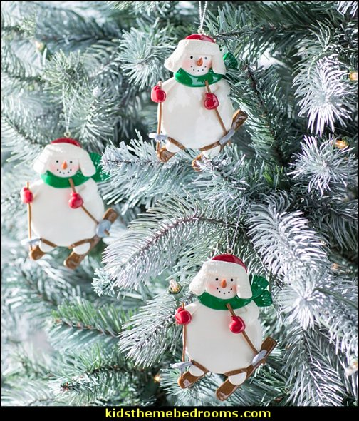 Diamond Christmas Painted Decorative Pendant Christmas Tree Innovative Skates Ski Shoes Pendant Christmas Home Door And Tree Decorations