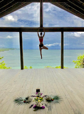 anti-gravity yoga, aerial yoga, yoga retreats, ananda pavilion, what's coming, yoga, wellness, #payabay, #payabayresort,