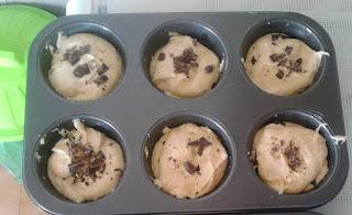 Muffin yogurt di pistacchio e cioccolata fondente