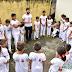 """Alunos da capoeira do CRAS participam de """"batizado"""" e recebem a primeira graduação"""