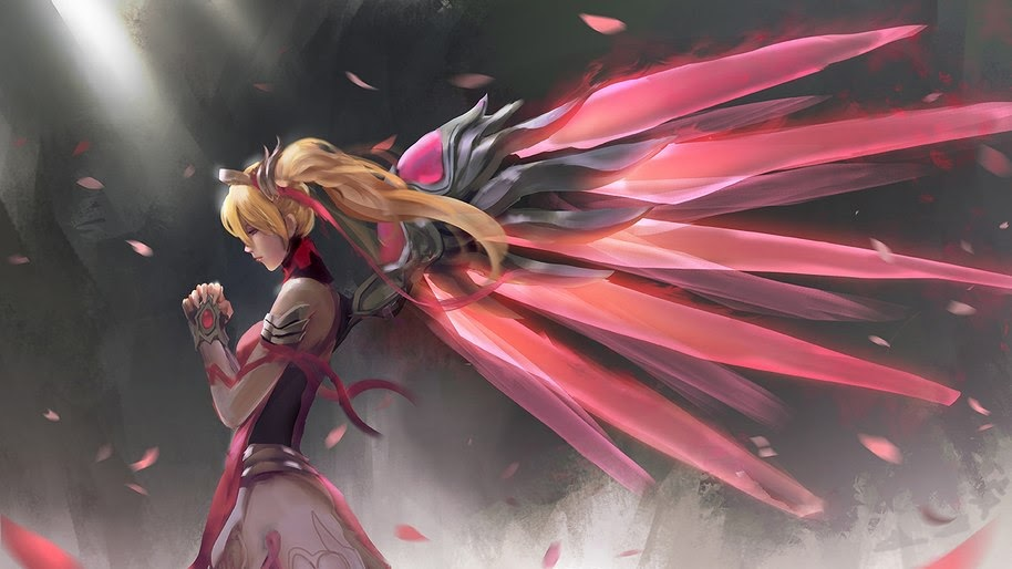 Pink Mercy Overwatch Art 4k Wallpaper 39