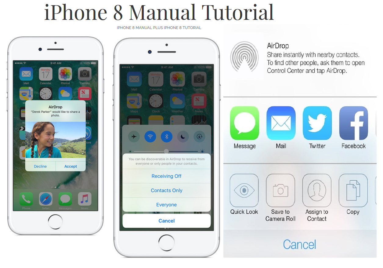 Iphone 8 Manual User Guide With Iphone 8 Plus Tutorial Manual Guide