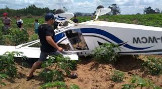Avião cai em Guarabira neste sábado (29)