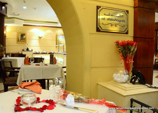 Al Shindagah restaurant at Carlton Palace
