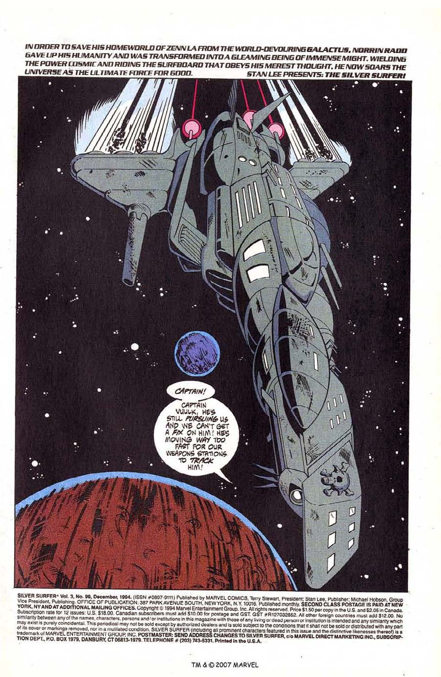 Read online Silver Surfer (1987) comic -  Issue #99 - 3