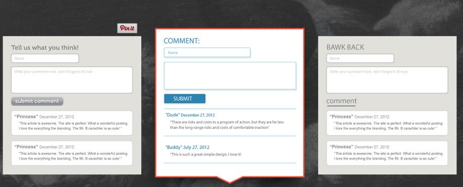 HTML Comment Box