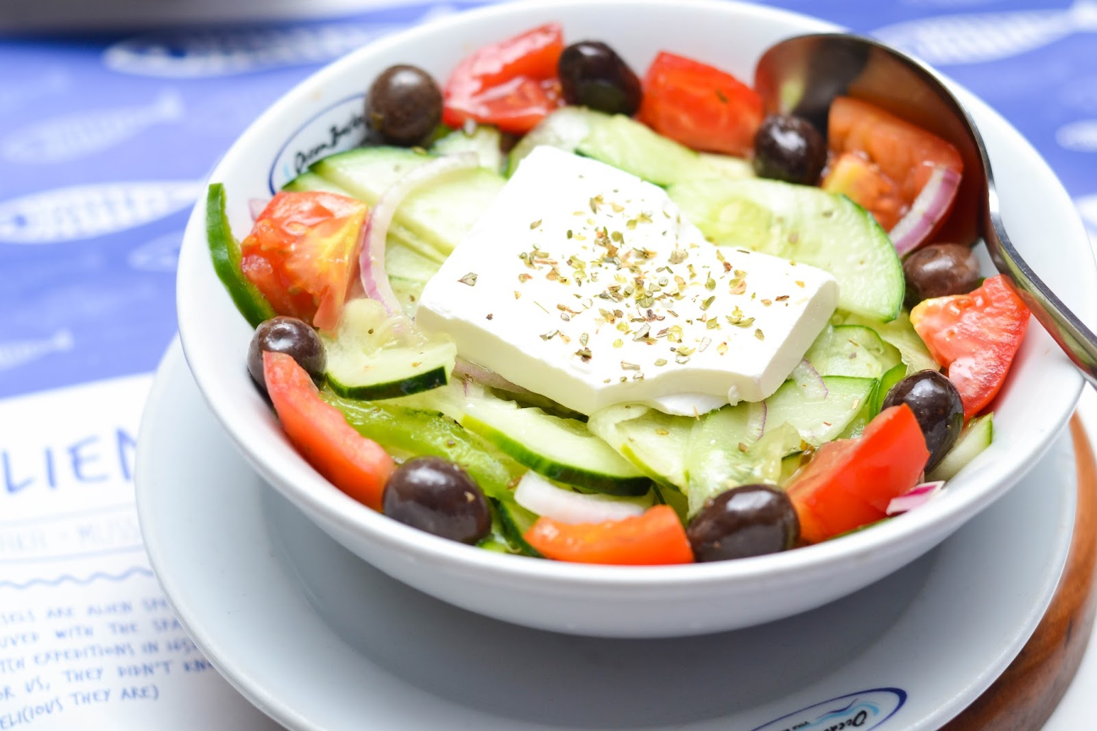 Ocean Basket Mediterranean Vegetable Salad with Halloumi Cheese