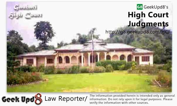 Gauhati High Court, Ahmedabad Judgments