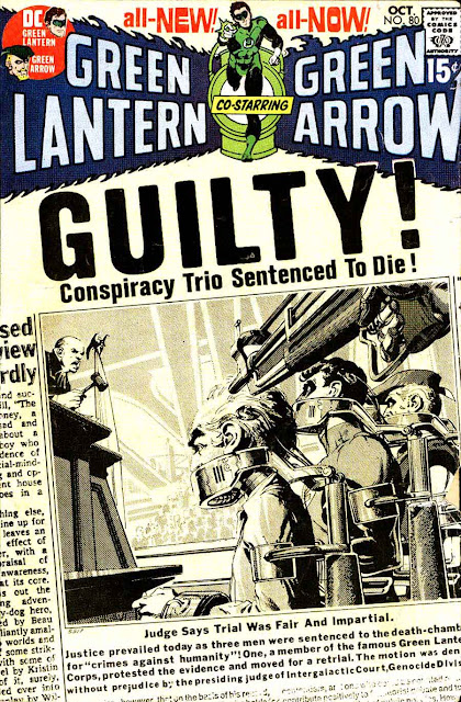 Green Lantern Green Arrow #80 dc comic book cover art by Neal Adams