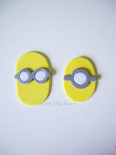 los otros minions,kevin y Stuart paso a paso,con sus gafas y sus ojos blancos para el cuelga puertas de Minions