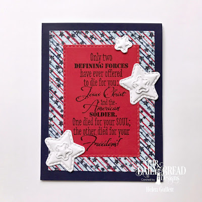 Our Daily Bread Designs Stamp: Defining Force, Custom Dies: Double Stitched Rectangles, Sparkling Stars, Double Stitched Stars, Paper Collection: Stars and Stripes