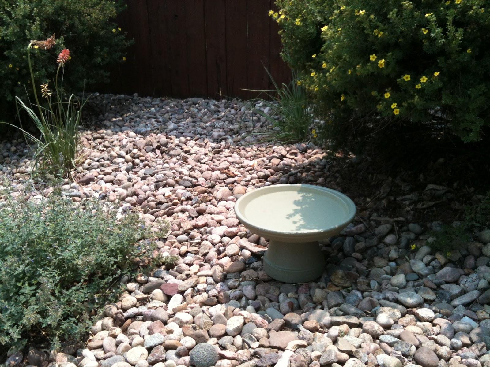 Small Water Garden Needs No Electricity Just Place Pots: Bright Beginnings ~*~: Homemade Bird Bath