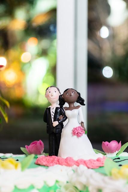 mariage guadeloupe, détail de la pièce montée