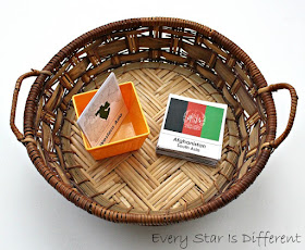Montessori-inspired regions of Asia flag sorting activity with free printable.