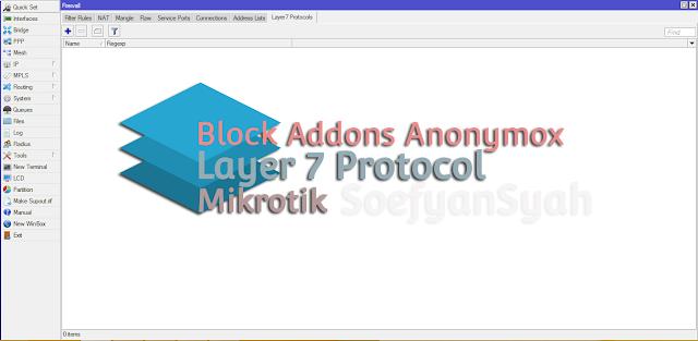 Blokir Addon Anonymox Menggunakan Mikrotik