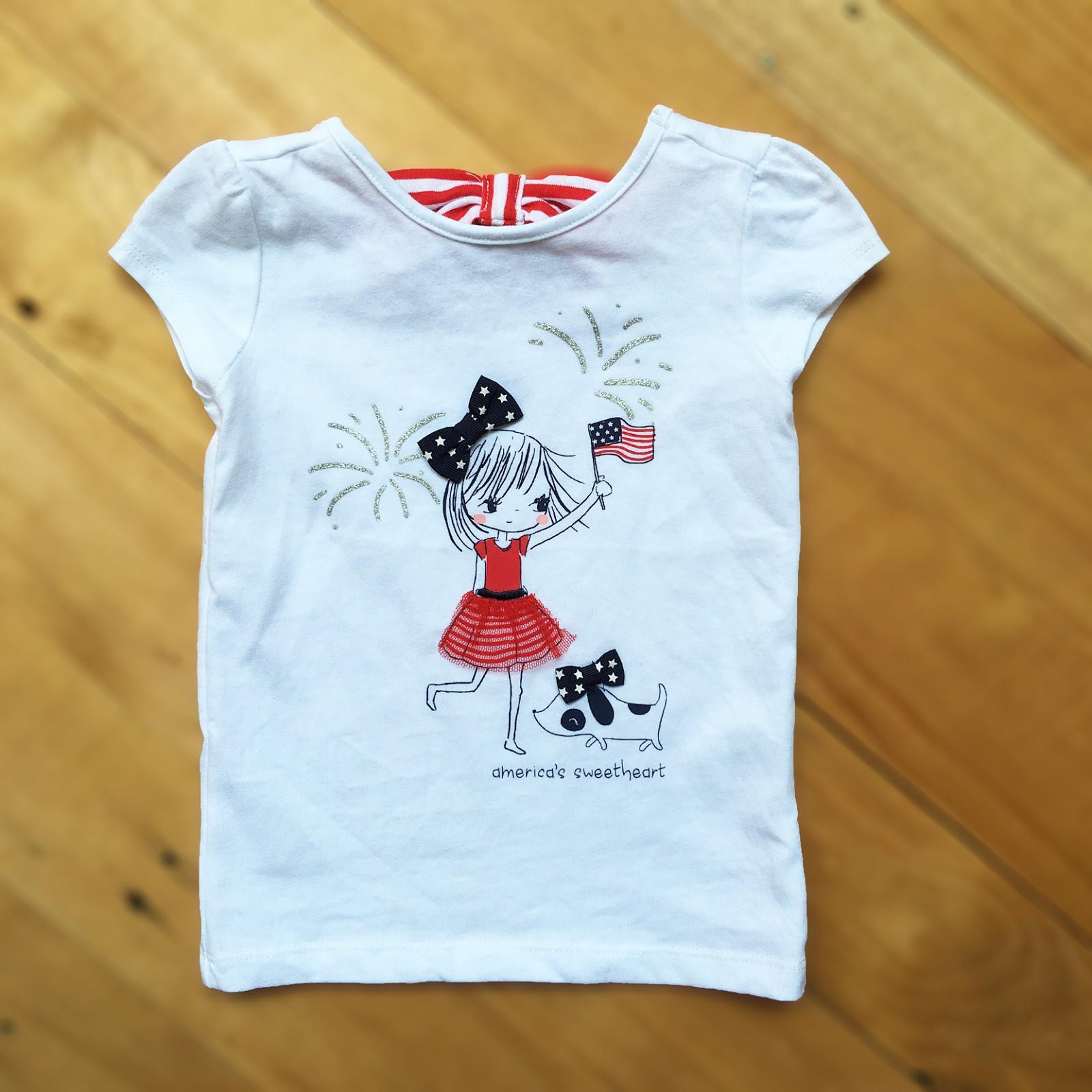 Áo thun Gymboree, bé gái, hàng xuất dư, made in cambodia, size từ 6/12M đến 5T.