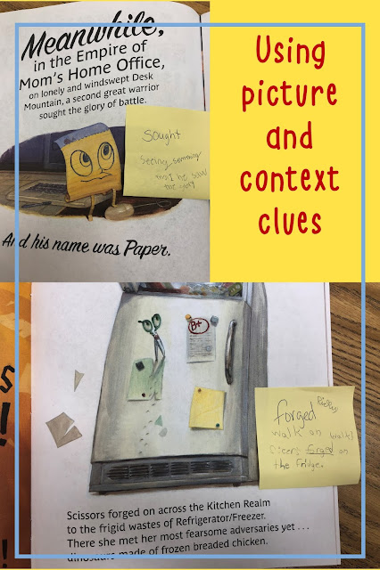Context clues can be tricky, but they are made fun with this super fun book telling the story of Rock, Paper, Scissors.