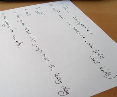 Mektup yazarken kullanılabilecek güzel ve sade bir el yazısı