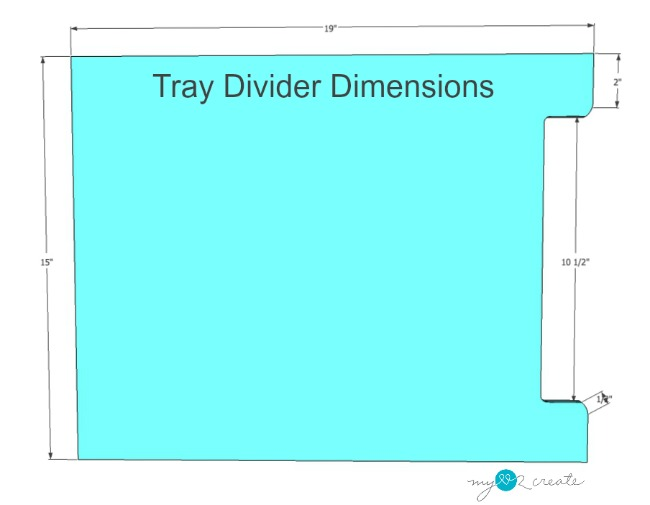notching dimensions for tray dividers