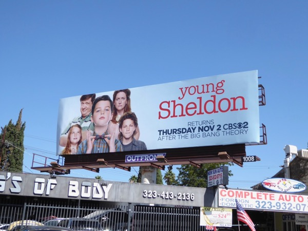 Young Sheldon season 1 billboard