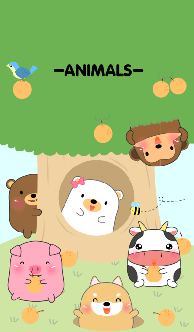 Home Animals On Tree theme