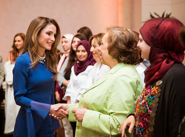 Queen Rania hosted an iftar banquet at Raghadan Palace