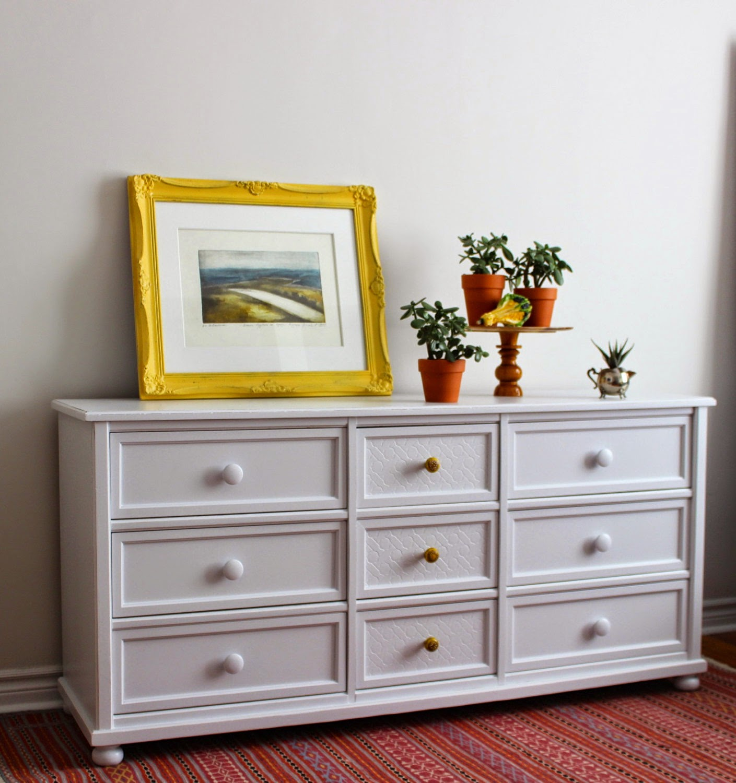 Poppyseed Creative Living: Light Grey Dresser with Yellow ...