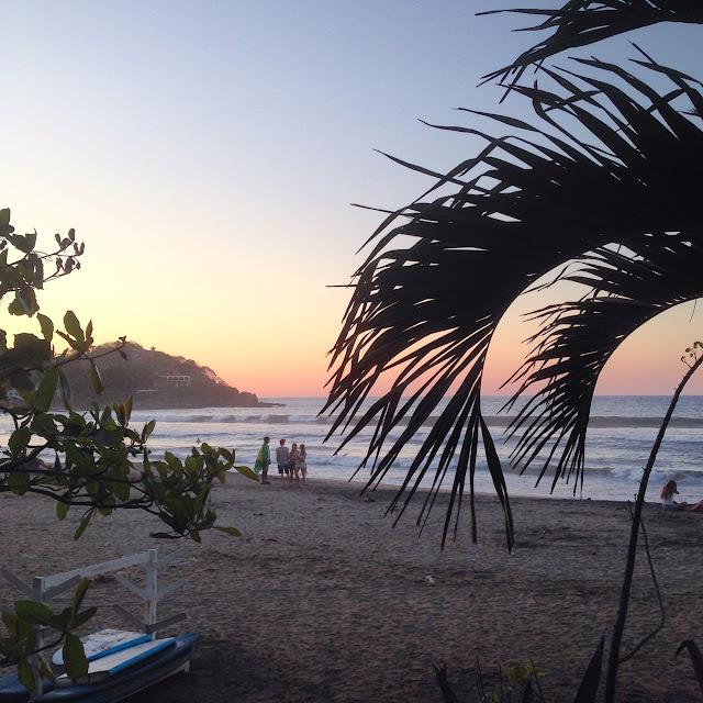 beach sunset in Sayulita Mexico