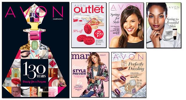 Avon Campaign 6, Avon Outlets, Avon mark magalog, The online date on this Avon catalogs 2/20/2016' - 3/04/2016'