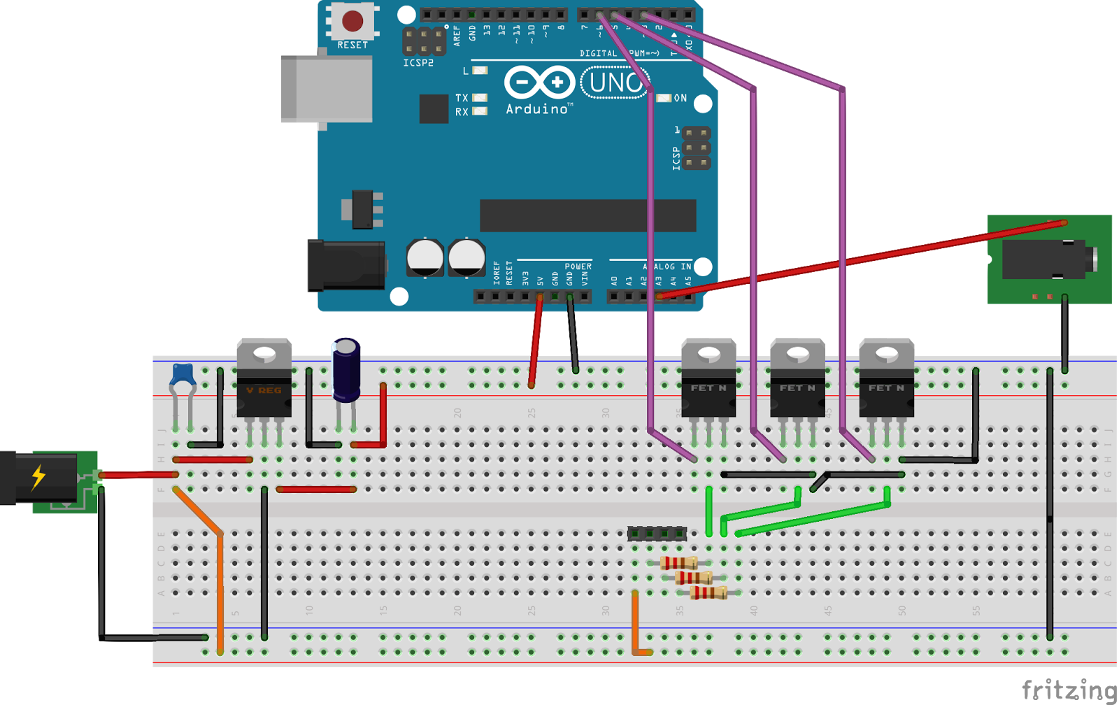 coffee and circuits arduino led strip controller build. Black Bedroom Furniture Sets. Home Design Ideas