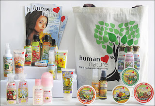 Human Nature brand of organic personal care products