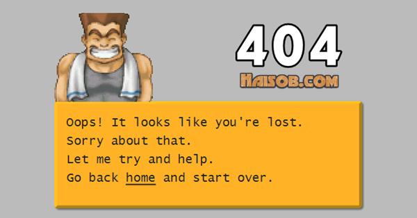 Halaman Error 404 haisob