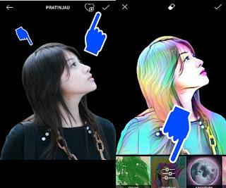 Tutorial Cara Membuat Efek Magic Spash di Foto Profil atau DP BBM