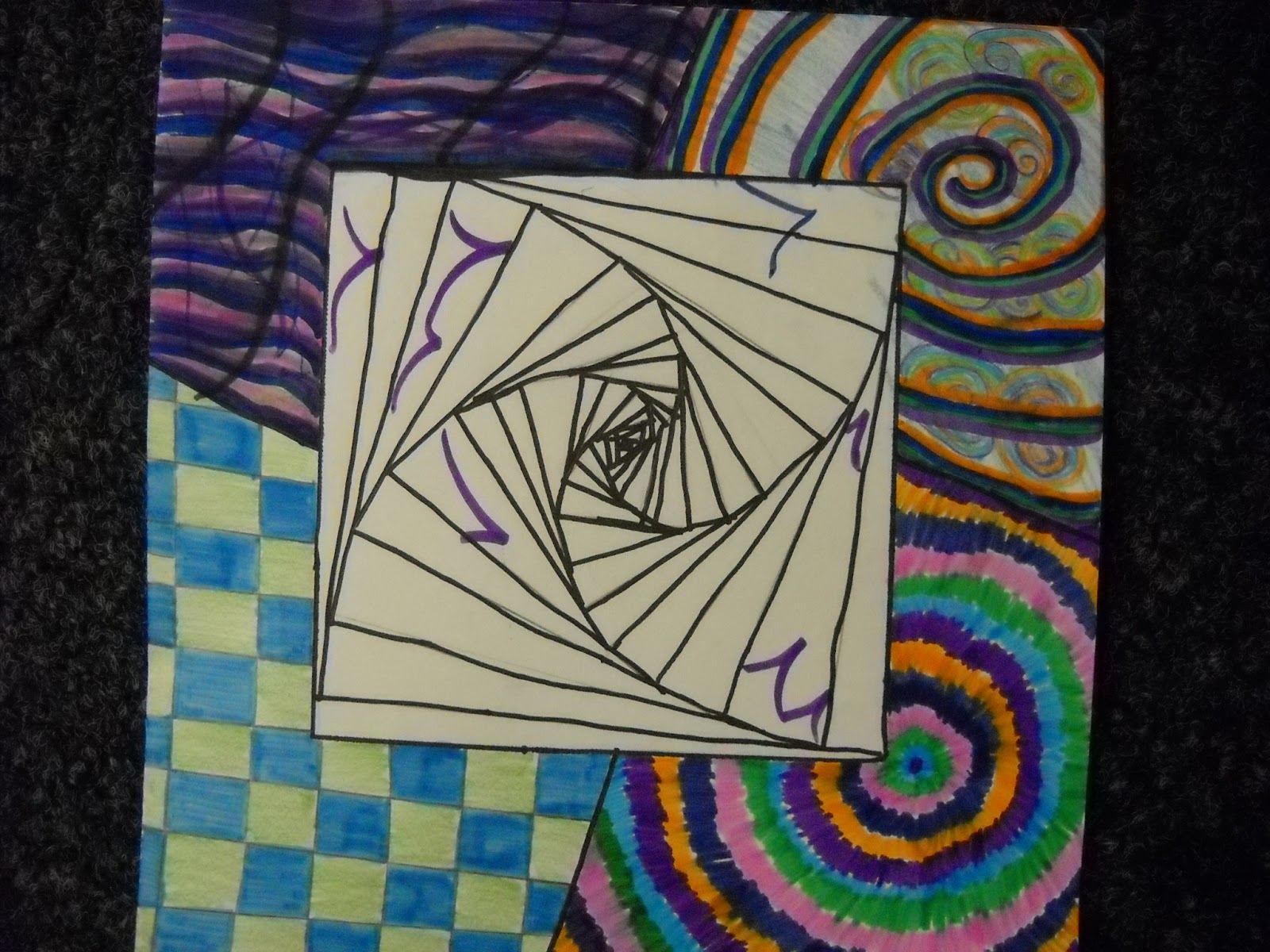 optical 4th project elementary illusion illusions op grade projects line ppps rooms