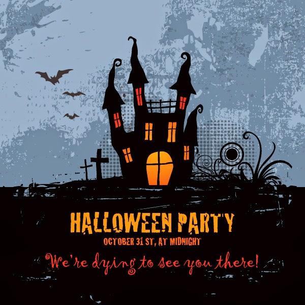 Vector para crear un afiche para fiesta de halloween