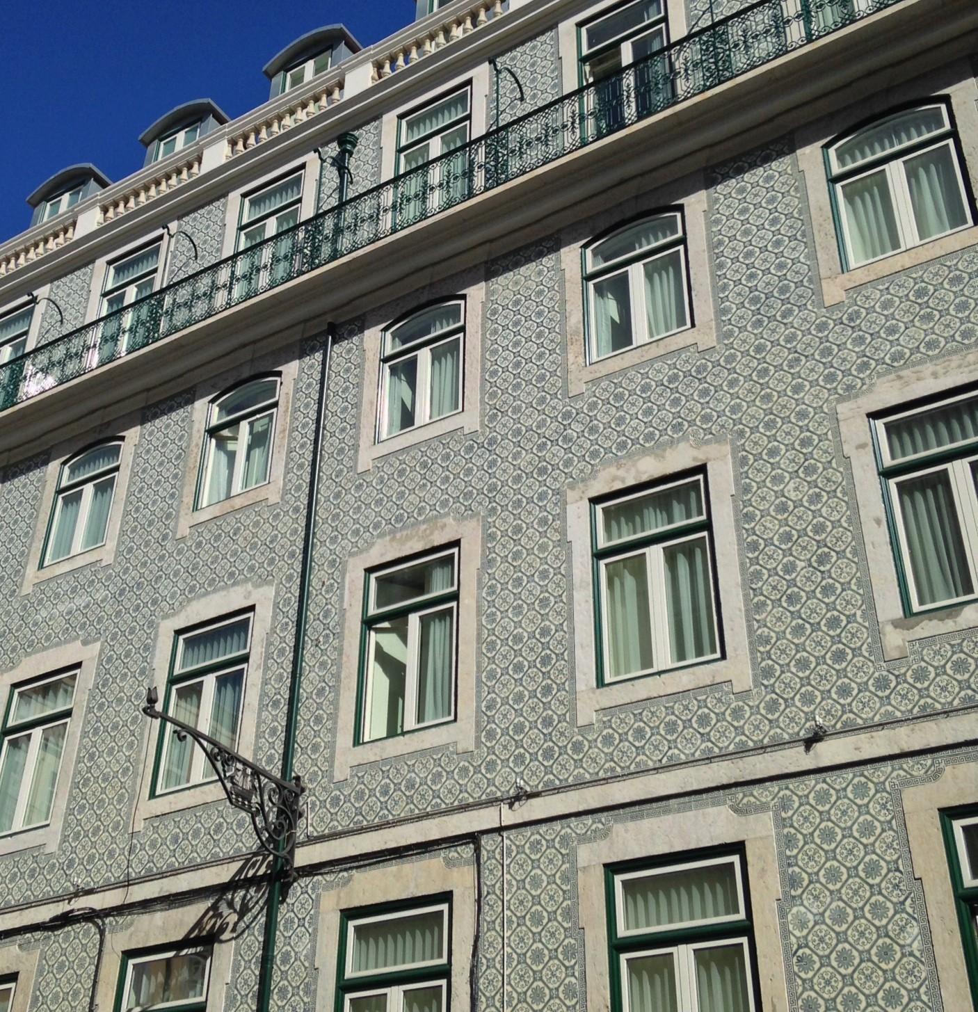 Tiled houses in Lisbon