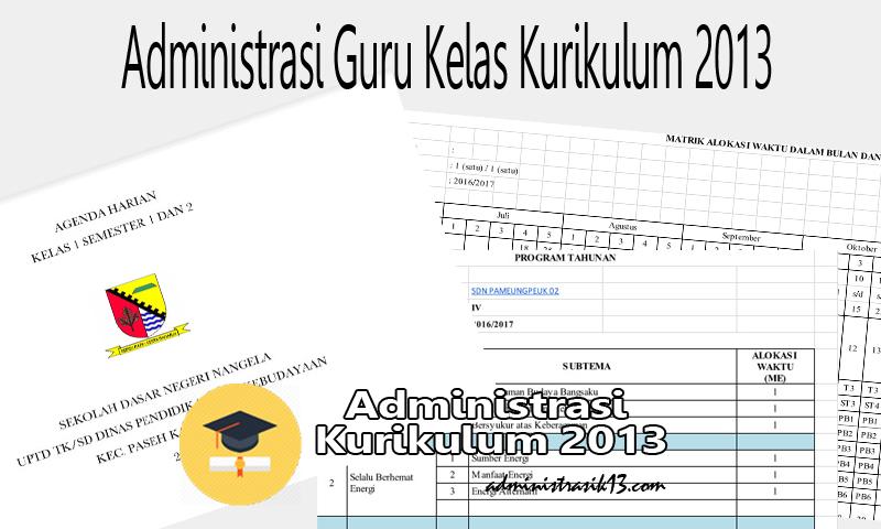 Download Administrasi Guru Kelas 1 SD Kurikulum 2013