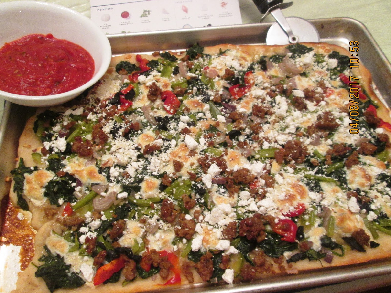 Blue apron spinach pizza - I Have Not Talked About Blue Apron For Quite Awhile That Is Because I Have Not Gotten A Blue Apron Box Since The Last Week Of December Saving Money And