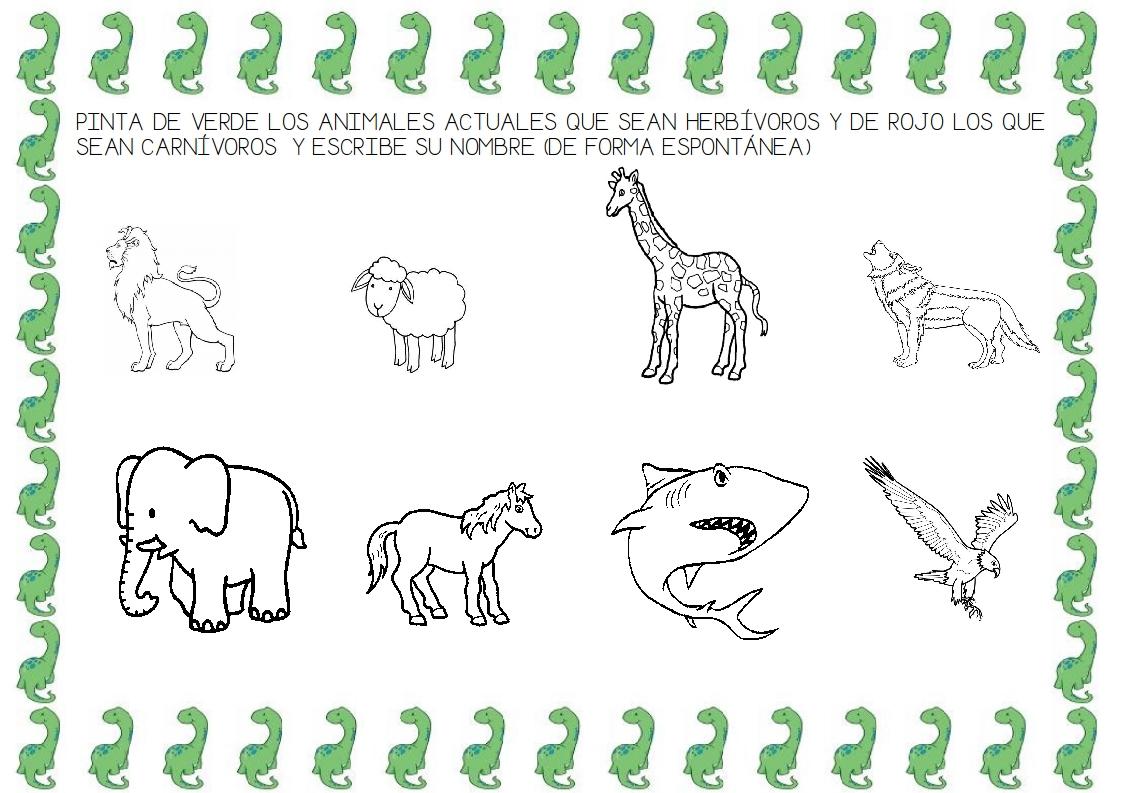 Animales Omnivoros Dibujos Para Colorear: Recursos D'un Mestre D'infantil: PROYECTO DE LOS