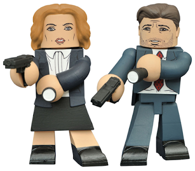 The X-Files 2016 Revival Vinimates Vinyl Figures by Diamond Select Toys - Fox Mulder & Dana Scully