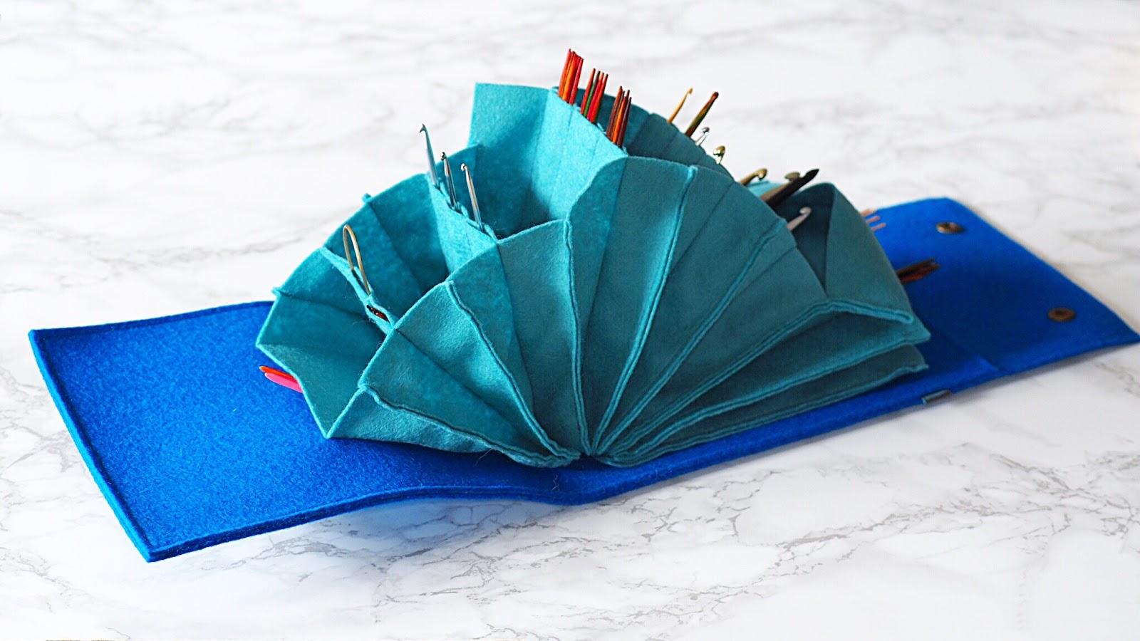 Nadelspieltasche von Bodolina - Stricknadeltasche handgemacht