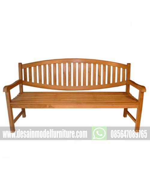 Kursi taman minimalis kayu jati