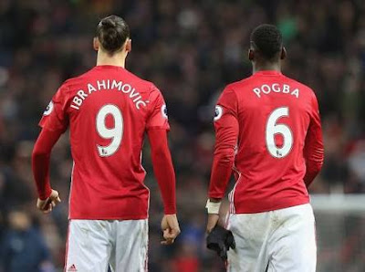King zlatan and prince pogba