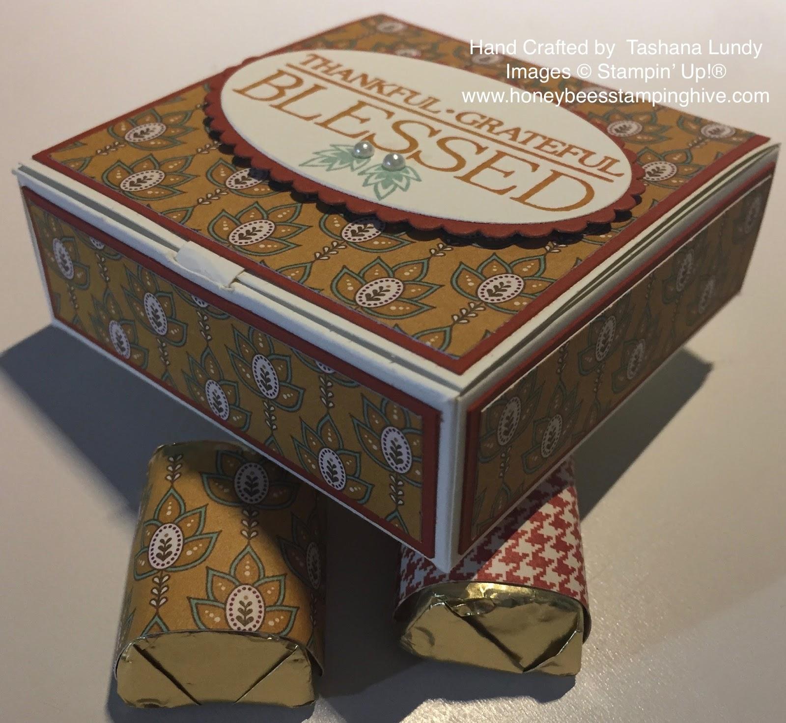 Honeybee's Stamping Hive: Hershey Nugget Card Box