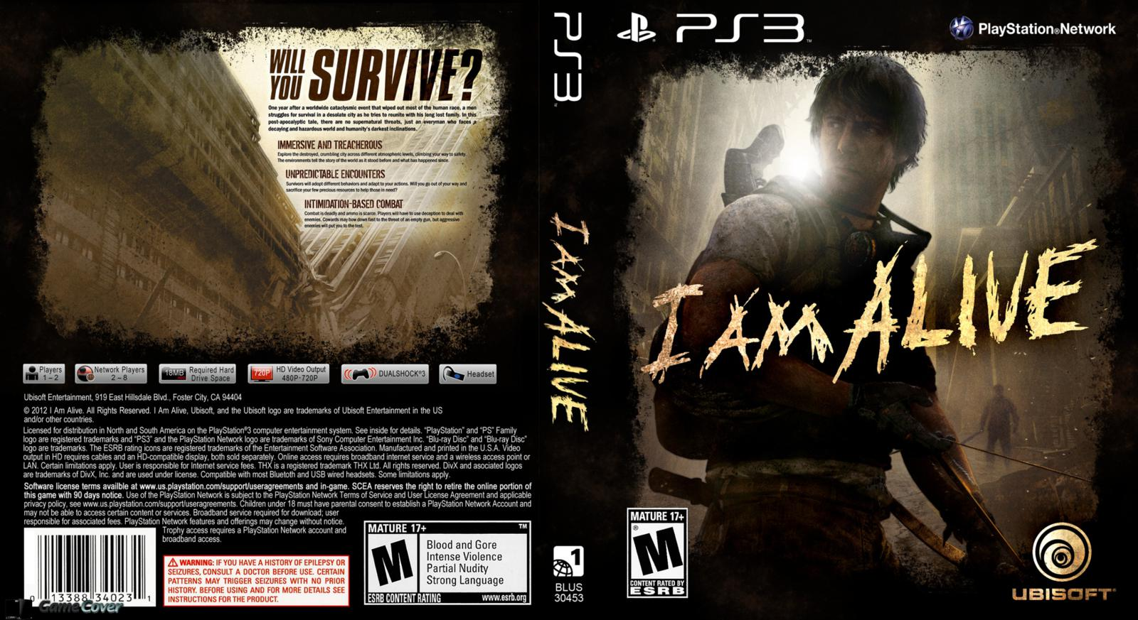 Capa I Am Alive PSN/PS3