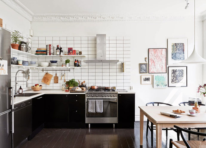 Utilitarian Nordic Home with Bohemian Elements Kitchen
