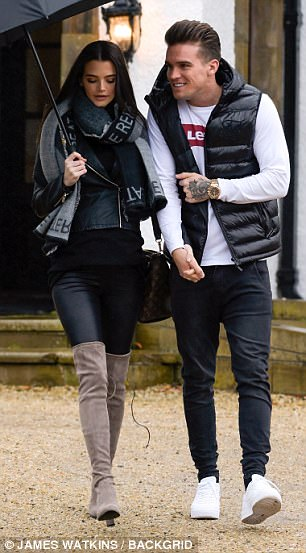 Gaz Beadle cradles pregnant girlfriend Emma McVey