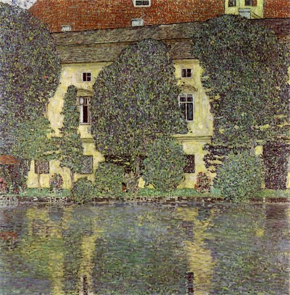 Klimt Schloss Kammer am Attersee III 1910